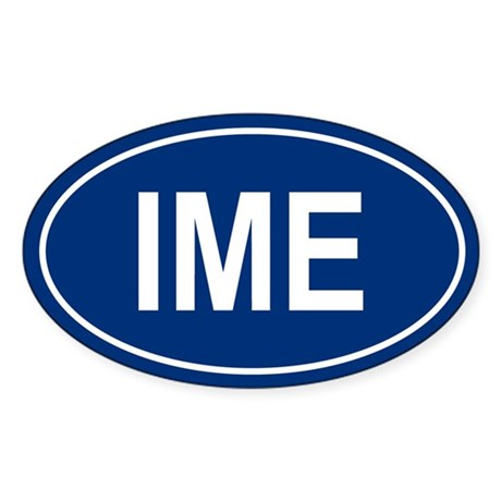 IME Oval Sticker