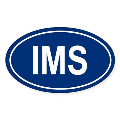 IMS Oval Sticker