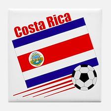Costa Rica Soccer Team Tile Coaster