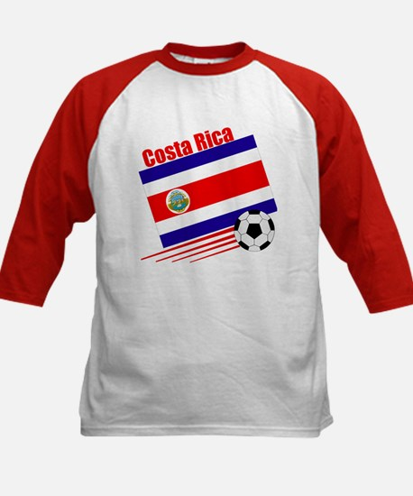 Costa Rica Soccer Team Kids Baseball Jersey