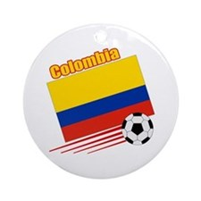 Colombia Soccer Team Ornament (Round)