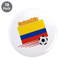 """Colombia Soccer Team 3.5"""" Button (10 pack)"""