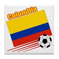 Colombia Soccer Team Tile Coaster