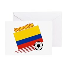 Colombia Soccer Team Greeting Cards (Pk of 10)