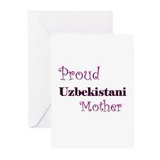 Proud Uzbekistani Mother Greeting Cards (Pk of 10)