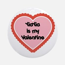 YiaYia is My Valentine Ornament (Round)