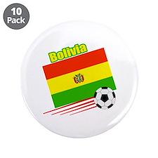 "Bolivia Soccer Team 3.5"" Button (10 pack)"