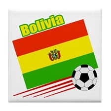 Bolivia Soccer Team Tile Coaster