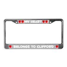 My Heart: Clifford (#006) License Plate Frame