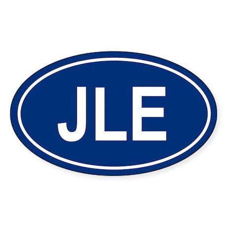 JLE Oval Sticker