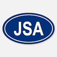 JSA Oval Decal