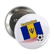 """Barbados Soccer Team 2.25"""" Button (10 pack)"""