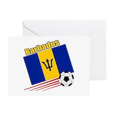 Barbados Soccer Team Greeting Cards (Pk of 10)