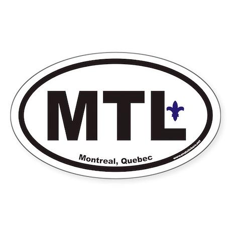 Montreal Quebec MTL Euro Oval Sticker