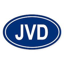 JVD Oval Bumper Stickers