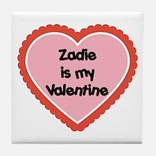 Zadie is My Valentine Tile Coaster