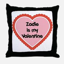 Zadie is My Valentine Throw Pillow