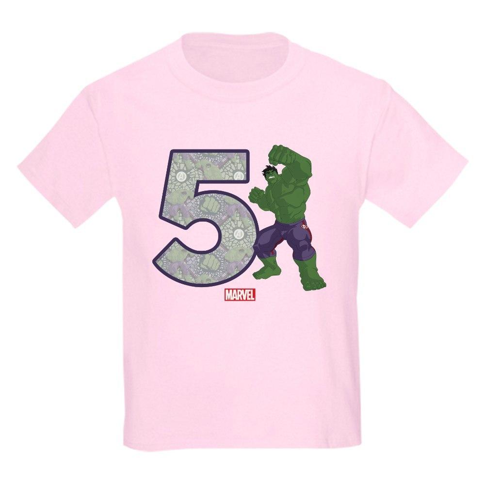 CafePress Hulk Birthday Age 5 Kids Light T Shirt Kids Light T-Shirt 208804617