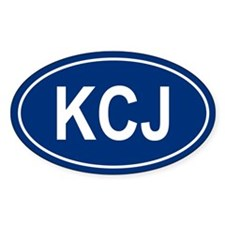 KCJ Oval Decal