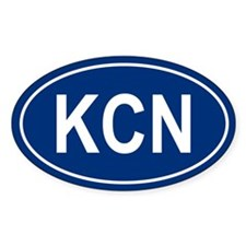 KCN Oval Decal