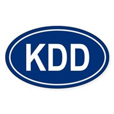 KDD Oval Decal
