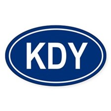 KDY Oval Decal