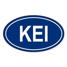 KEI Oval Decal