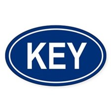 KEY Oval Decal
