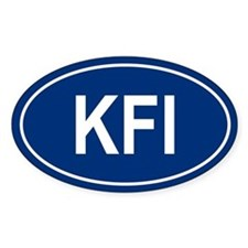 KFI Oval Bumper Stickers