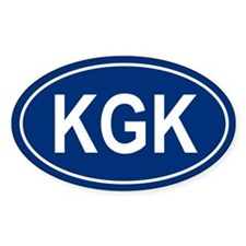 KGK Oval Decal