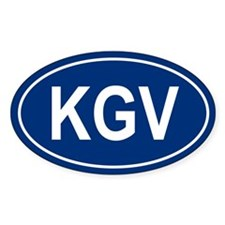 KGV Oval Decal