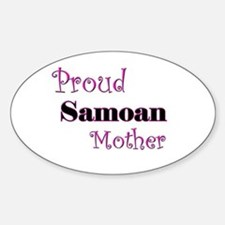 Proud Samoan Mother Oval Decal