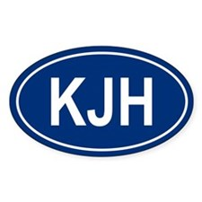 KJH Oval Decal