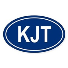 KJT Oval Decal