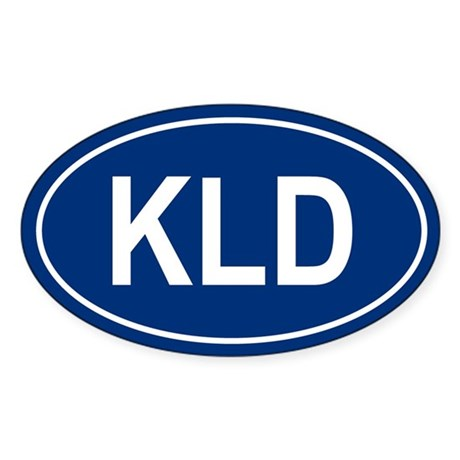 KLD Oval Sticker