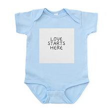 Love starts here shirt