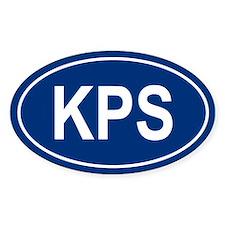 KPS Oval Bumper Stickers