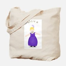 Blond Diva in Purple Dress Tote Bag