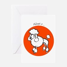 Adopt a Poodle Greeting Card
