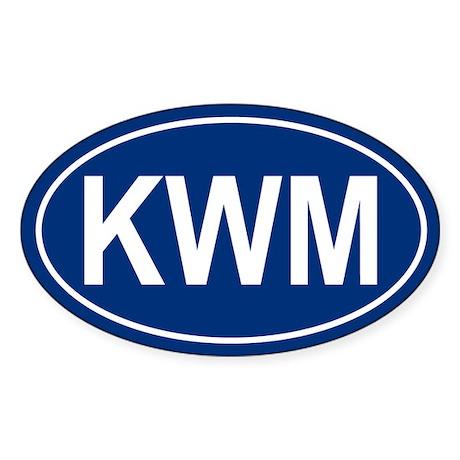 KWM Oval Sticker