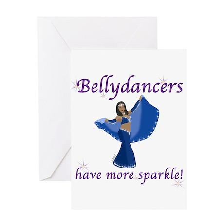 Blue Bellydancer Greeting Card