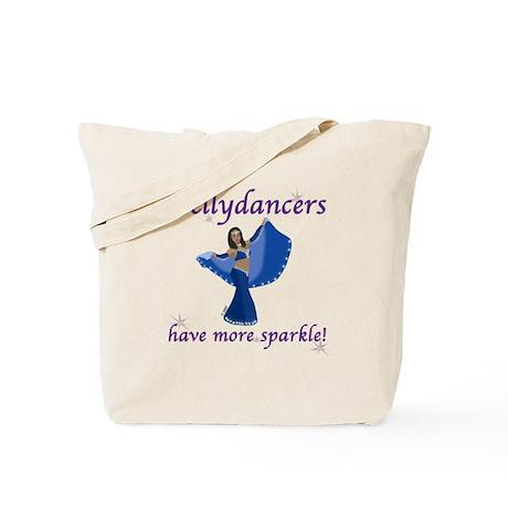Blue Bellydancer Tote Bag