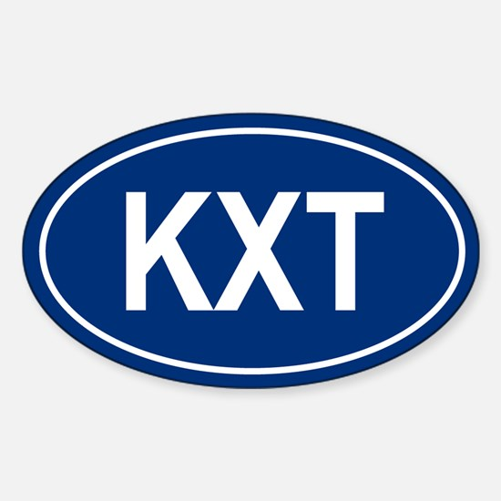 KXT Oval Decal
