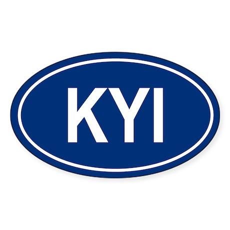 KYI Oval Sticker