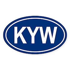 KYW Oval Bumper Stickers
