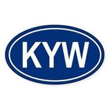 KYW Oval Decal
