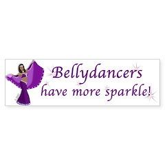 Purple Bellydancer Sparkle Bumper Sticker