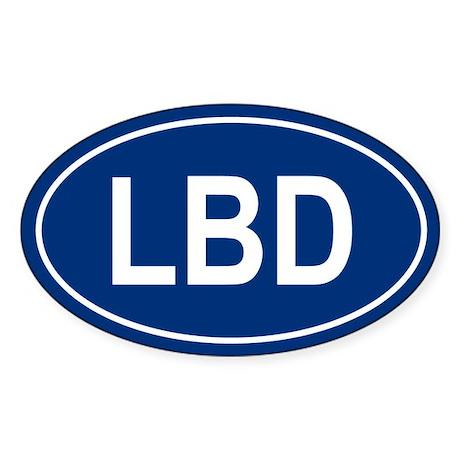 LBD Oval Sticker