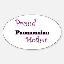 Proud Panamanian Mother Oval Decal