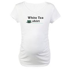 White Tea Shirt Maternity T-Shirt